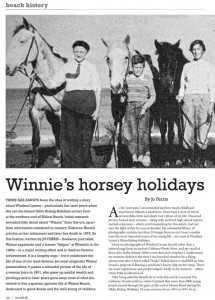 Winnie's Horsey Holidays – Beachlife Magazine
